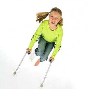 Meisje met gebroken been